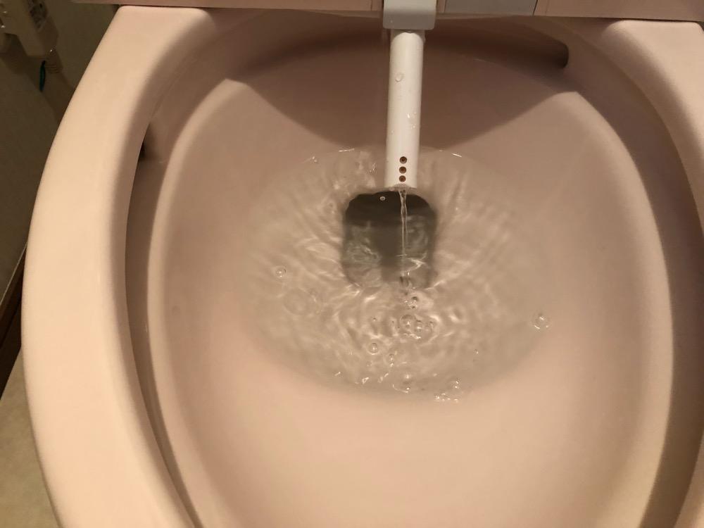 トイレ洗浄後2