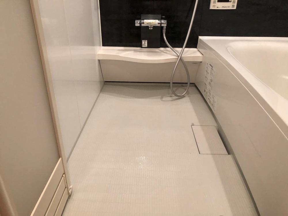 浴室乾燥後