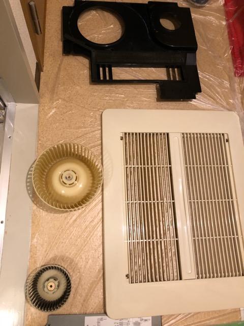 乾燥機能付き換気扇パーツ