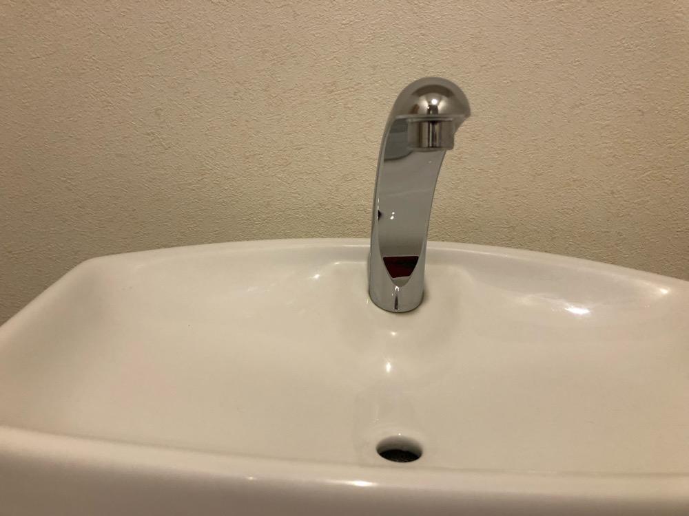 トイレ手洗い洗浄後