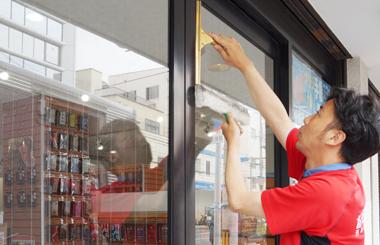 定期的に窓ををキレイにします